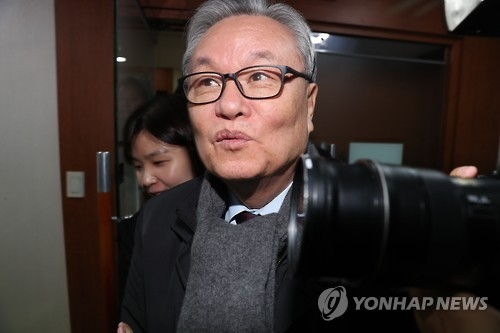 In Myung-jin, head of the ruling Saenuri Party's emergency leadership panel (Yonhap)