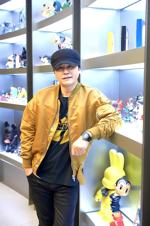 This photo provided by YG Entertainment shows Yang Hyun-suk, CEO and chief producer of the entertainment agency. (Yonhap)