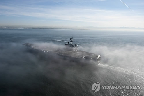With aircraft carrier, U.S. sending message to N. Korea: S. Korea