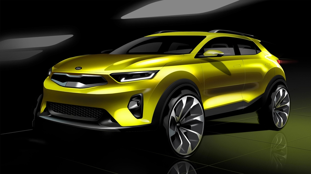 A rendered image of the front of Kia's Stonic SUV (Photo courtesy of Kia Motors) (Yonhap)