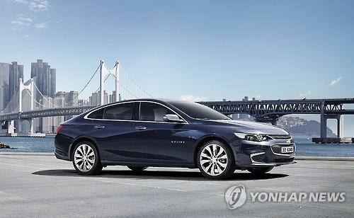 GM Korea's all-new Malibu sedan (Yonhap)