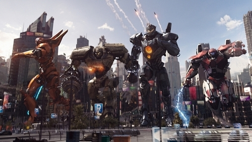"A still from 'Pacific Rim Uprising,"" provided by UPI Korea (Yonhap)"