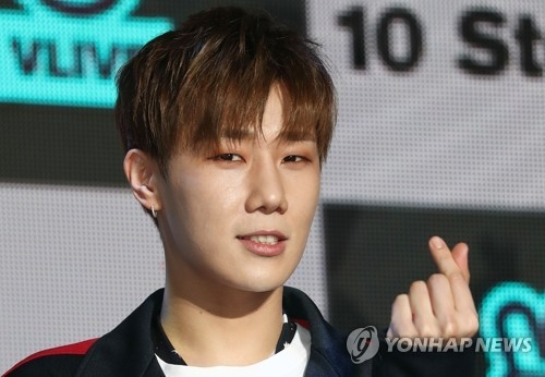 This file photo shows Sungkyu of INFINITE. (Yonhap)