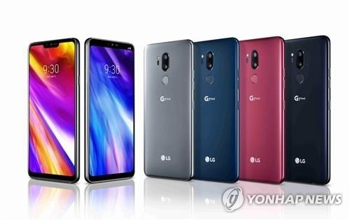 G7 ThinQ smartphones from LG Electronics, who provided this photo (Yonhap)