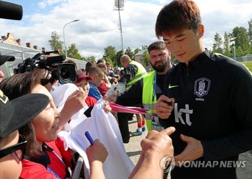 (World Cup) S. Korean captain wants teammates to show their character on pitch