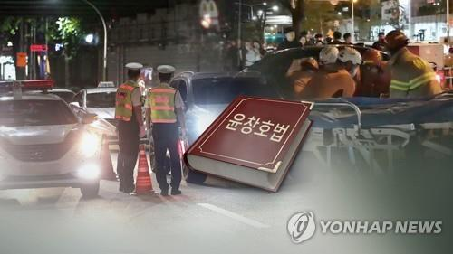 This composite picture filed Nov. 12, 2018, shows images related to drunk driving. (Yonhap)
