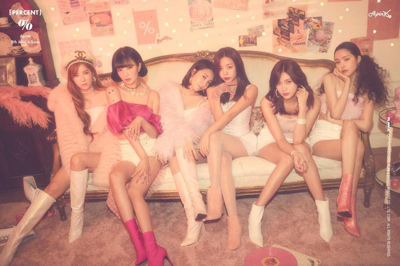 "This tease image for Apink's eighth EP, ""PERCENT,"" is provided by Plan A Entertainment. (Yonhap)"