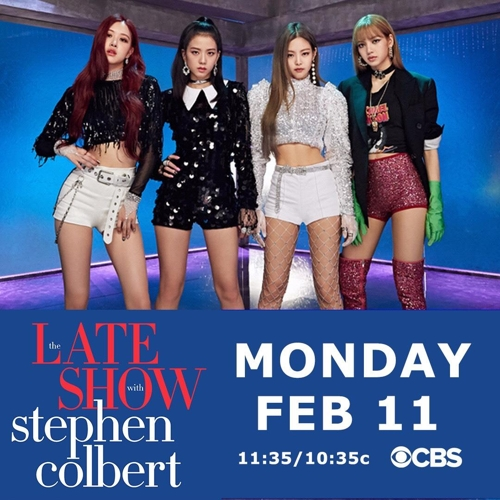 BLACKPINK to appear on CBS talk show hosted by comedian Stephen Colbert - 1