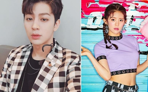 This photo of iKon's Song Yun-hyeong (L) is captured from his Instagram account while the photo of Daisy of Momoland is captured from the band's official website. (Yonhap)