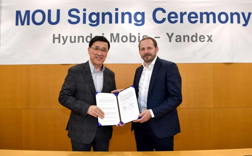 Hyundai Mobis partners with Russia's Yandex on autonomous cars