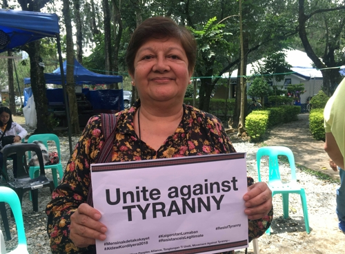 This undated photo, released by the May 18 Memorial Foundation on April 15, 2019, shows Joanna Carino, a Philippine activist championing the rights of indigenous peoples. (Yonhap)