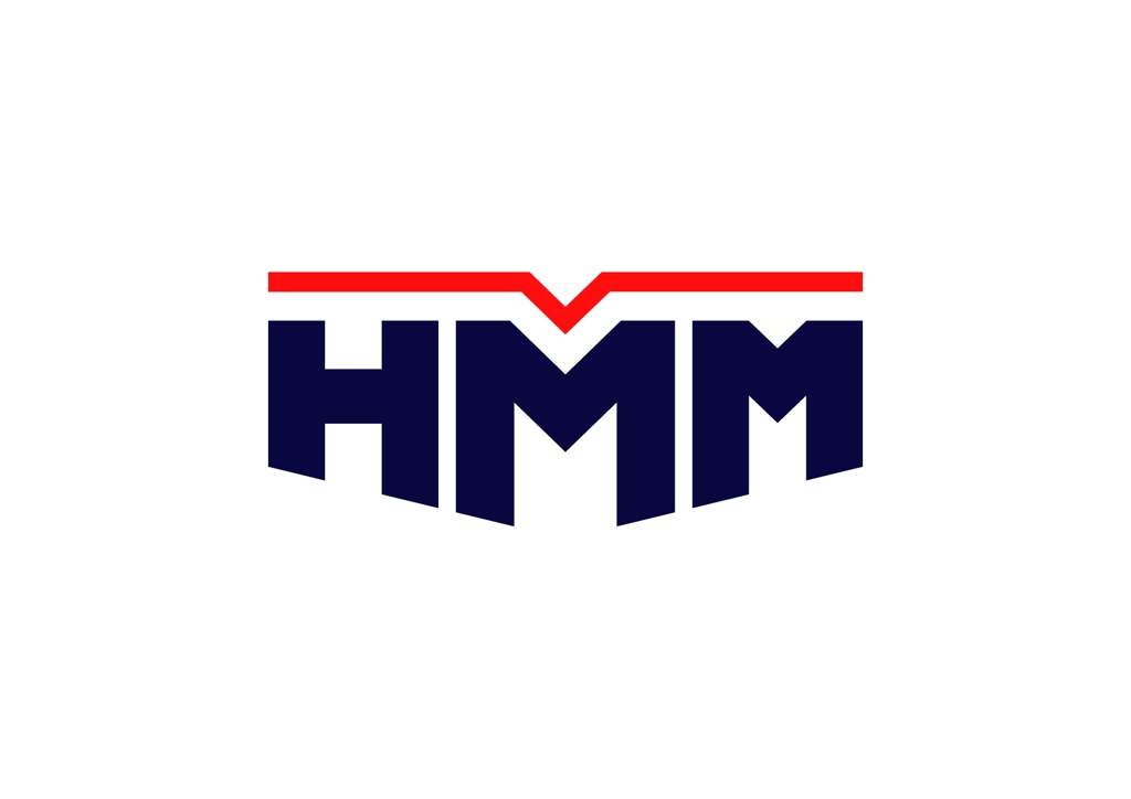 This photo shows the new corporate logo of South Korea's top shipping firm, Hyundai Merchant Marine Co. (Yonhap)