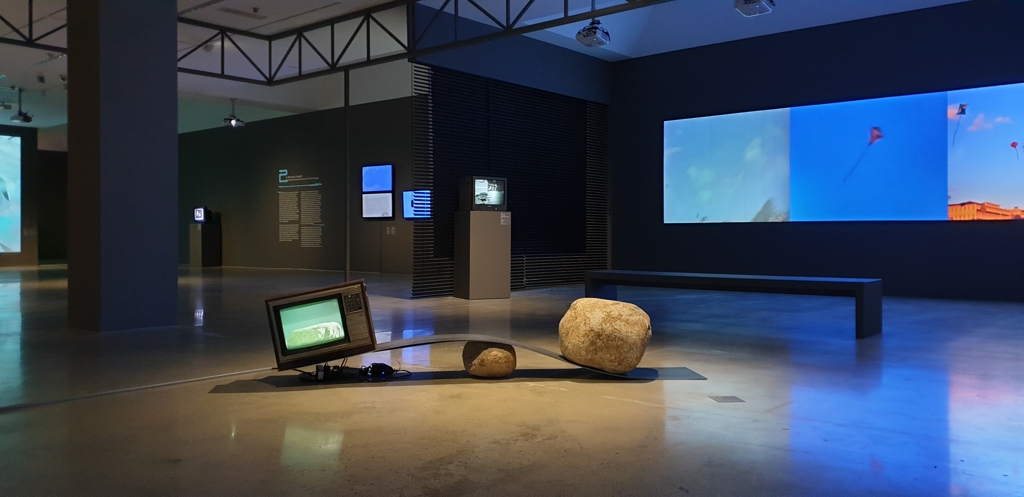 "This image shows a scene from ""Korean Video Art from 1970s to 1990s: Time Image Apparatus"" which runs from Nov. 28, 2019 to May 31, 2020, at the National Museum of Modern and Contemporary Art's Gwacheon museum. (Yonhap)"