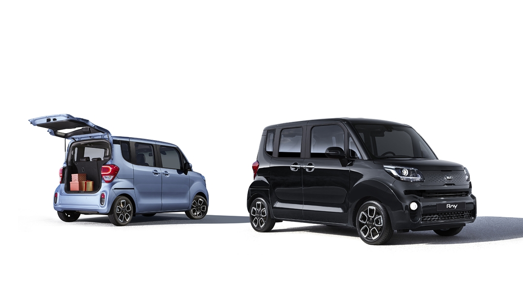 This photo provided by Kia Motors shows its upgraded Ray minicar. (PHOTO NOT FOR SALE) (Yonhap)