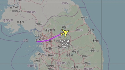 U.S. flies spy plane over S. Korea's capital areas: aviation tracker