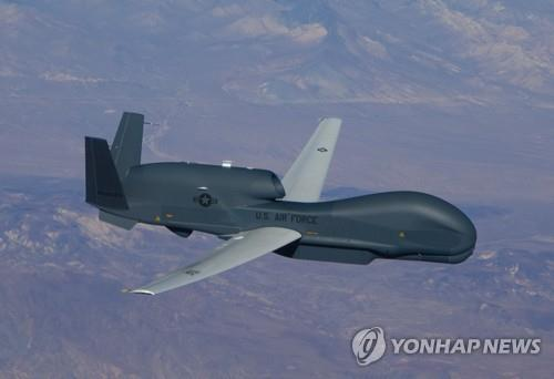 This photo, provided by Northrop Grumman on Dec. 11, 2019, shows a Global Hawk surveillance drone, which aviation tracker Aircraft Spots said was spotted over the Korean Peninsula at a high altitude, the latest in a series of U.S. flights to monitor North Korea amid growing concern Pyongyang may be preparing for a long-range rocket launch. (PHOTO NOT FOR SALE) (Yonhap)