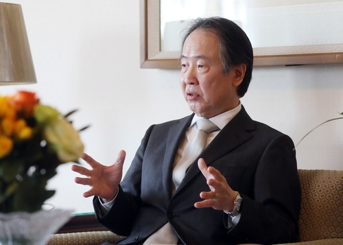 (Yonhap Interview) Japanese envoy balks at Seoul's calls for exempting businesspeople from entry restrictions
