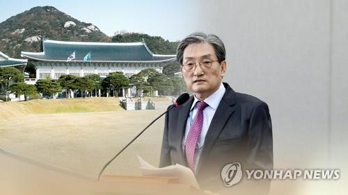 This image created by Yonhap News TV shows the presidential Chief of Staff Noh Young-min. (Yonhap)