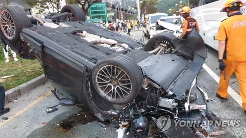 Driver who used drugs found responsible for seven-fold collision in Busan