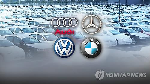 This image shows logos of major foreign car brands. (Yonhap)