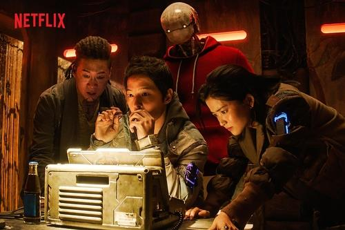 "This image provided by Netflix shows a scene from ""Space Sweepers."" (PHOTO NOT FOR SALE) (Yonhap)"
