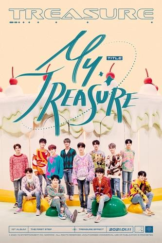 "This image, provided by YG Entertainment, shows a promotional image for TREASURE's upcoming new song ""My Treasure. (PHOTO NOT FOR SALE) (Yonhap)"