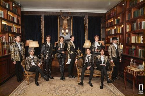 This photo, provided by Label SJ, shows a teaser image for K-pop boy band Super Junior's 10th studio album released on March 16, 2021. (PHOTO NOT FOR SALE) (Yonhap)