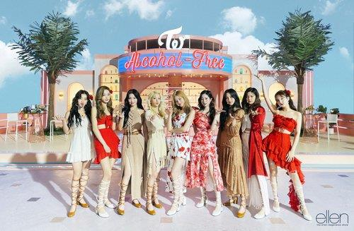 This photo provided by JYP Entertainment shows K-pop girl group TWICE. (PHOTO NOT FOR SALE) (Yonhap)