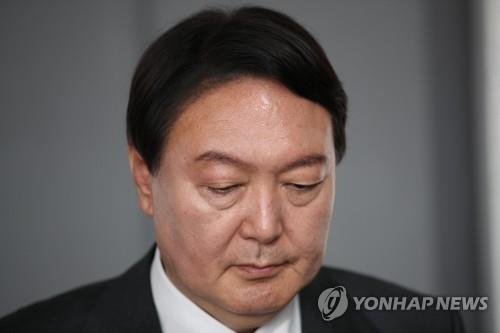 This photo distributed by the National Assembly press corps shows ex-Prosecutor General Yoon Seok-youl. (Yonhap)
