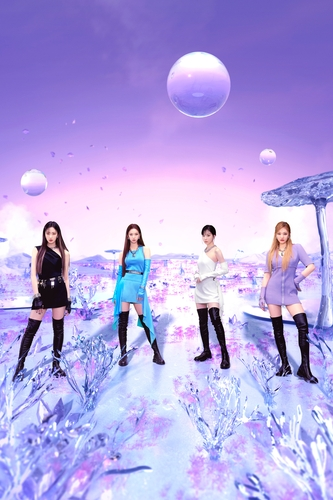 This photo provided by SM Entertainment shows K-pop girl group aespa. (PHOTO NOT FOR SALE) (Yonhap)