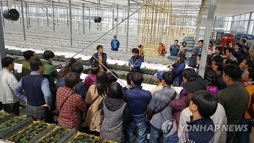 '인생 2모작'…영농교육 현장 [연합뉴스 자료 사진]