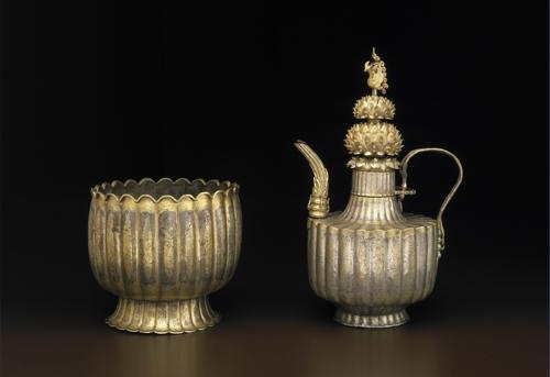 미국 보스턴박물관 소장 12세기 '은제 금도금 주자와 받침'. [국립중앙박물관 제공]