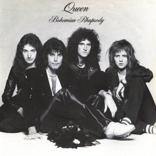 그룹 '퀸' 4번째 정규 앨범 '보헤미안 랩소디' 픽처 슬리브. 왼쪽부터 존 디콘, 프레디 머큐리, 브라이언 메이, 로저 테일러