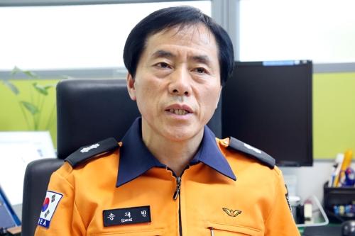 인터뷰하는 송재빈 임동119안전센터장