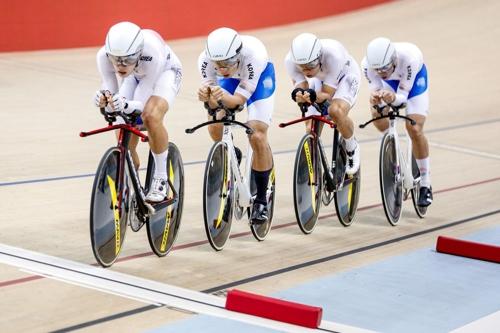 한국 사이클 남자 단체추발 금빛 질주