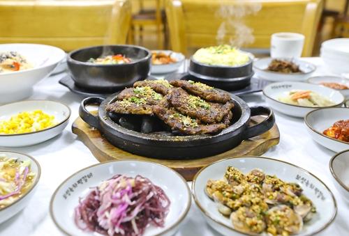 깔끔한 맛을 내는 녹차떡갈비 [사진/성연재 기자]