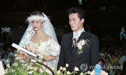 최민수-강주은 결혼식