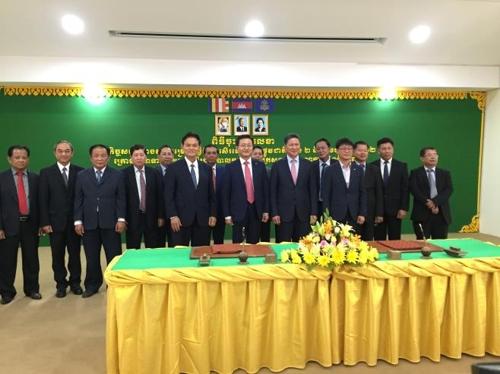 캄보디아 2번·22번 국도 개선공사 계약 체결식