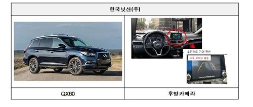 후방카메라 모니터 화면 문제로 리콜되는 한국닛산 QX60