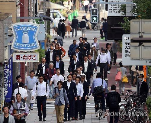 도쿄의 출근길 풍경 [연합뉴스 자료사진]