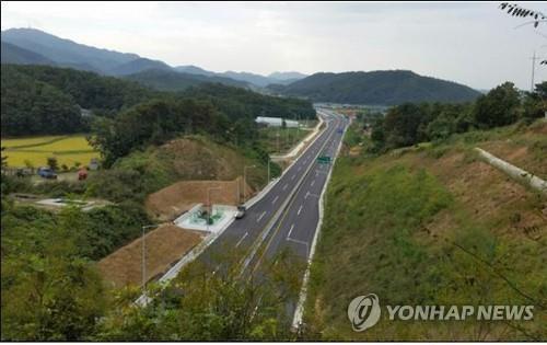 2016년 개통한 국도 37호선 파주 적성∼연천 군남 구간