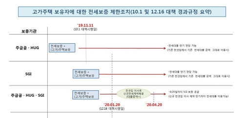 """20일부터 9억원 넘는 주택보유자 전세대출 금지…""""갭투자 차단""""(종합) - 3"""