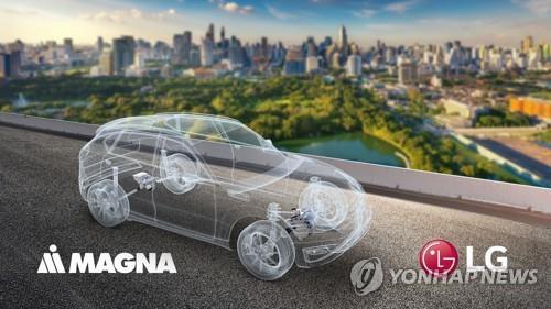 LG전자-마그나, 전기차 파워트레인 합작법인 설립 (서울=연합뉴스) LG전자가 세계 3위의 자동차 부품 업체 마그나 인터내셔널과 전기차 파워트레인(동력전달장치) 분야 합작법인을 설립하기로 했다고 23일 밝혔다. 2020.12.23 [LG전자 제공. 재판매 및 DB 금지] photo@yna.co.kr (끝)