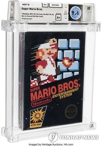 35 년된 닌텐도 '슈퍼 마리오'게임 카트리지 7 억 원에 판매