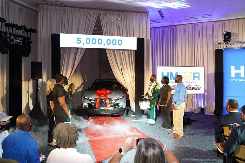 현대차 앨라배마 공장에서 500만 번째 생산 차량의 모습[현대차 북미법인 제공]