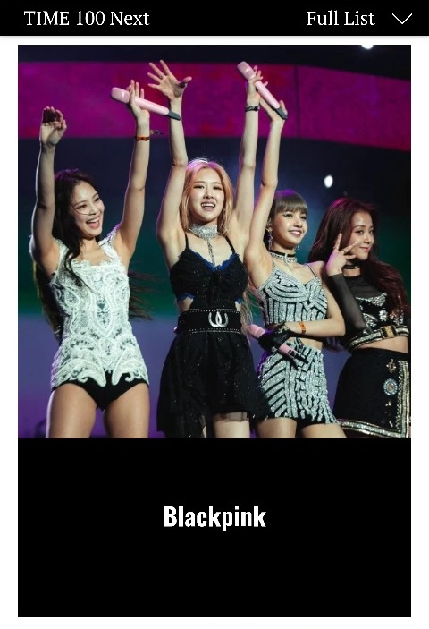 BLACKPINK es incluida en la lista '100 Next' de la revista Time