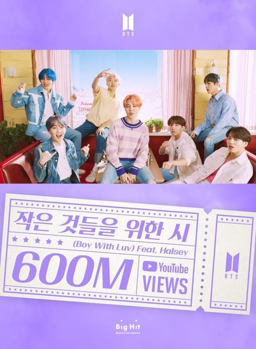 El vídeo musical de BTS 'Boy with Luv' es el más visto de YouTube en Corea del Sur este año
