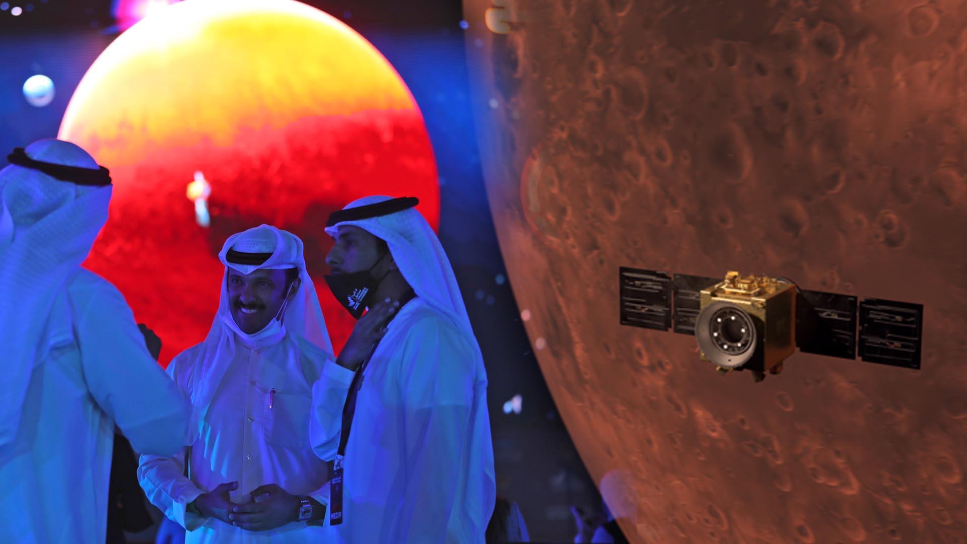 화성 탐사 경쟁 … UAE 탐사선이 아랍 궤도에 첫 진입
