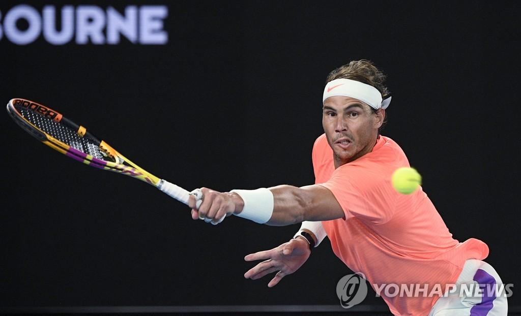 나달, 호주 오픈 테니스 16 강 … '메이저 최다 우승 외모'(전체)