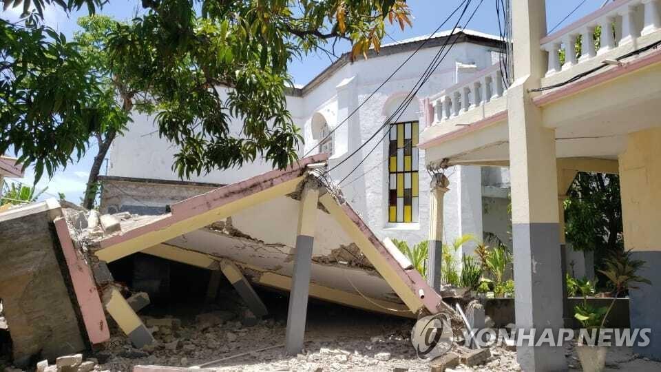 규모 7.2 강진으로 무너진 아이티 레카이 교회